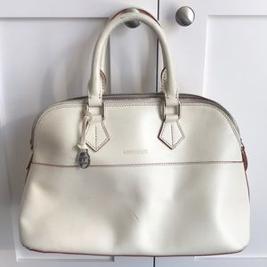 Dooney & Bourke white leather purse w silver red